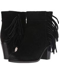 Kenneth Cole Alana Fringe Bootie Ankle Boot - Black