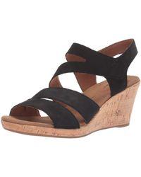 Rockport Briah Asym -Sandalen mit Keilabsatz - Schwarz