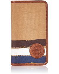Tommy Bahama Canvas Iphone7 Wallet Case-khaki - Natural