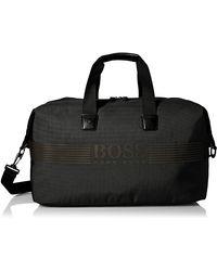 BOSS by Hugo Boss Boss -adult's Pixel Nylon Weekender Bag - Black