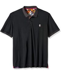 Robert Graham Easton Short Sleeve Knit Polo - Black