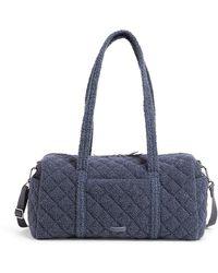 Vera Bradley Teddy Fleece Sherpa Small Travel Duffle Bag - Blue