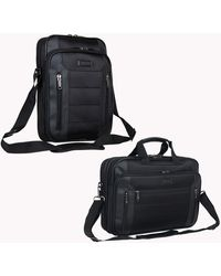 """Kenneth Cole Reaction Keystone 1680d Polyester Single Compartment 12"""" Laptop/tablet Case - Black"""