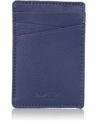 Buxton Addison Rfid Blocking Leather Front Pocket Money Clip Wallet - Blue