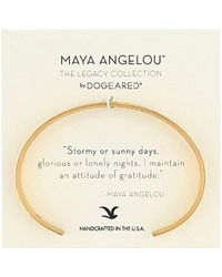 "Dogeared - Maya Angelou 2.0""attitude Of Gratitude Thin Engraved Cuff Bracelet - Lyst"