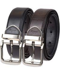 Tommy Bahama Leather Reversible Belt - Black
