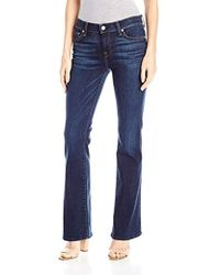7 For All Mankind - Petite Size Tailorless Bootcut Jean - Lyst