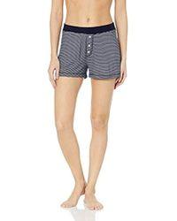 Three Dots Ht6169 Feeder Stripe Pajama Short - Blue