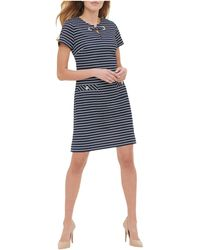 Tommy Hilfiger - Scuba Crepe Two Pocket Dress - Lyst