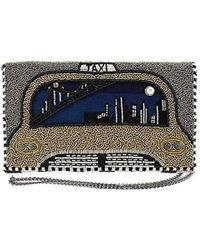 Mary Frances - New York Nights Beaded-embroidered Taxi Cab Crossbody Clutch Handbag - Lyst