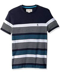 Original Penguin - Short Sleeve Blocked Stripe Tee - Lyst