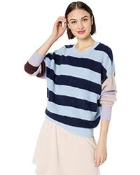 Parker Mila Long Sleeve Boatneck Oversized Sweater - Blue