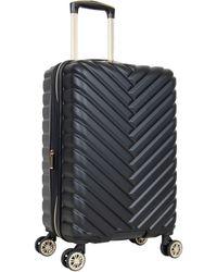 Kenneth Cole Reaction Madison Square Hardside Chevron Expandable Luggage - Black