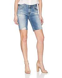 AG Jeans - Nikki Denim Short - Lyst