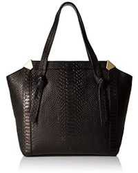 8eeafa3bae1 Lyst - Burberry Large Patent London Leather Portrait Tote Bag in Black