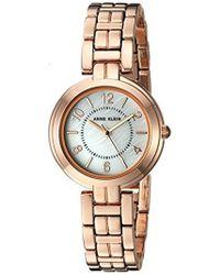 Anne Klein - Diamond-accented Gold-tone Mesh Bracelet Watch - Lyst