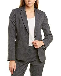 Tahari - Two Button Roll Sleeve Jacket - Lyst