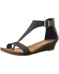 Kenneth Cole Reaction Great Great Gal T-strap Wedge - Blue