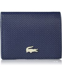 Lacoste Chantaco Leather Bifold Coin Purse - Blue