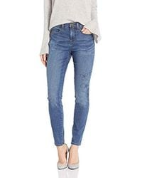 NYDJ - Ami Skinny Jean With Floral Embroidery - Lyst