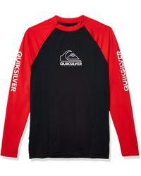 Quiksilver On Tour Ls Long Sleeve Rashguard Surf Shirt - Blue