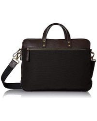 Fossil - Haskell Double Zip Leather Brief Workbag - Lyst 81e56c57e1a12