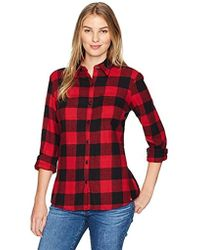 003f934498661 Lyst - Dickies Plus-size Long-sleeve Plaid Flannel Shirt in Red ...