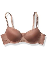 Vince Camuto Gentle Lift Push Up Demi Cup Bra - Brown