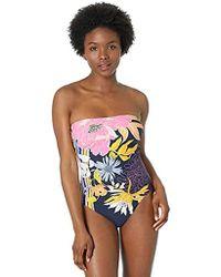 Trina Turk Bandeau One Piece Swimsuit - Black