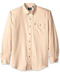 G.H.BASS Fireside Flannels Long Sleeve Button Down Shirt - Natural