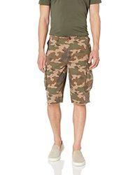 Buffalo David Bitton Stretch Twill Army Green Camo Shorts
