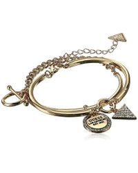 Guess - Two-piece Bangle Set With Charms - Lyst