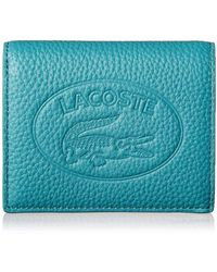Lacoste Leather Croc Bifold Wallet - Red