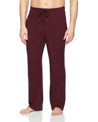 Amazon Essentials Knit Pyjama Pant Bottom - Red