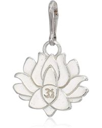 ALEX AND ANI Lotus Peace Petals Charm Sterling Silver - Metallic