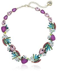 Betsey Johnson - Colorful Stone And Cat Cluster Collar Necklace - Lyst