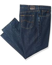 Lee Jeans Big & Tall Fce Lined Relaxed Fit Straight Leg Jean - Blue