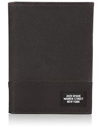Jack Spade Waxwear Passport Wallet - Brown