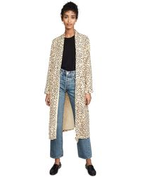 Cupcakes And Cashmere Arianne Printed Soft Satin Duster Coat - Multicolor