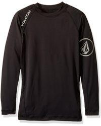 Volcom Solid Long-sleeve Rashguard Top - Black