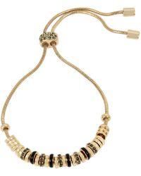 Kenneth Cole Mixed Beaded Adjustable Friendship Bracelet - Metallic