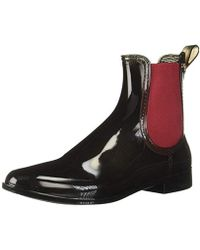M Missoni Ankle Rain Boots, Black With Red Trim, 40 M