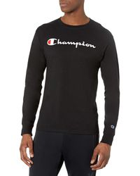 Champion Graphic Long Sleeve Tee - Black