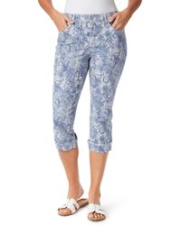 Bandolino Die High Rise Straight Cuffed Capri - Blue