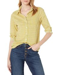 Goodthreads Cotton Dobby Long-Sleeve Button-Front Tunic Shirt - Multicolore