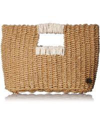 Billabong Coastal Dayz Straw Purse - Metallic