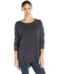 Calvin Klein - Performance Distressed Fleece Asymmetrical Tunic - Lyst
