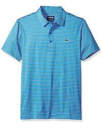 374faa27eca Lacoste - Short Sleeve Jersey Polo With Fine Stripes - Lyst