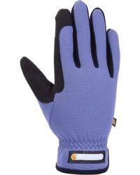 Carhartt Work-flex Breathable Spandex Work Glove - Blue