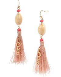 BCBGeneration - Love Tassel Chandelier Earrings - Lyst